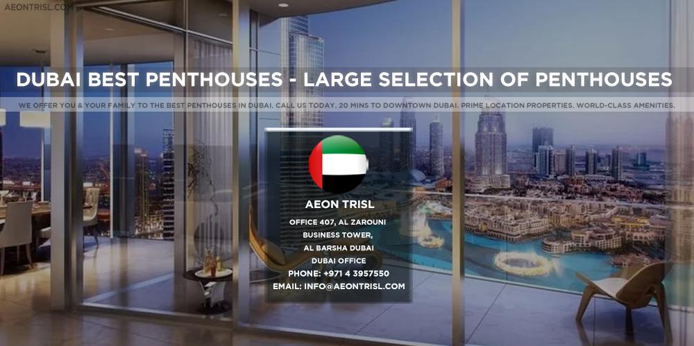 Dubai Best Penthouses - Large Selection of penthouses